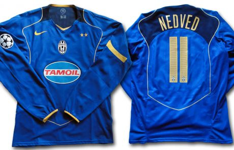 JUVENTUS JERSEY 2004/05 UEFA CHAMPIONS LEAGUE #11 NEDVED